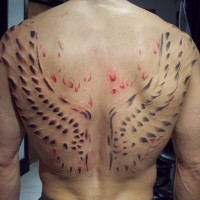 3d Scar back piece session 6, 4 to go
