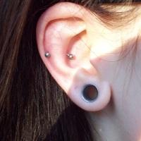 Healed Snug piercing