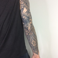 Completed sleeve...